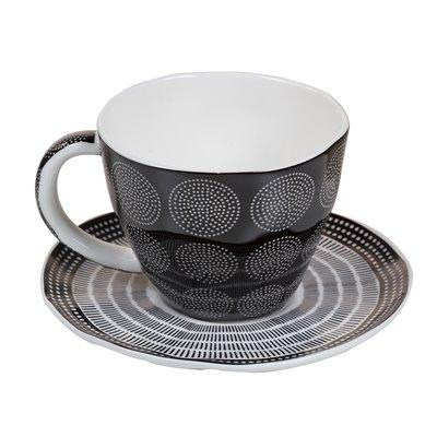 Taza de té organic negra