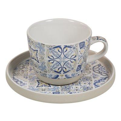 Taza con plato azul Casadecor