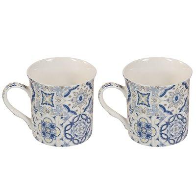 Conjunto de 2 tazas azul Casadecor