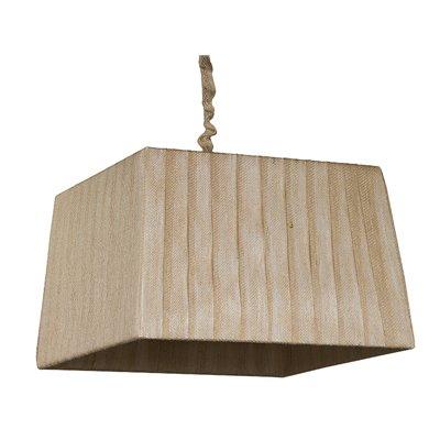 Lámpara pirámide yute oscuro