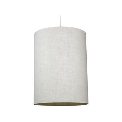 Lámpara cilindro crema