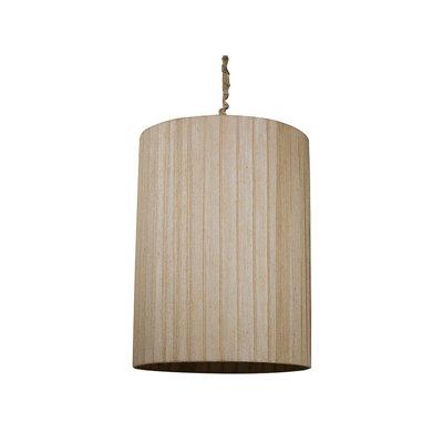 Lámpara cilindro yute oscuro