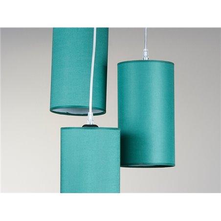 Lámpara 3 pantallas verde