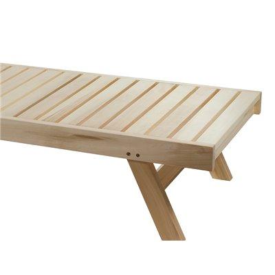 Tumbona de madera para tarraza y jardín