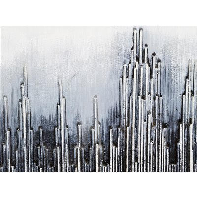 Cuadro abstracto plata