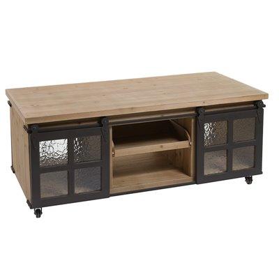 Mesa de centro estilo industrial Fabric