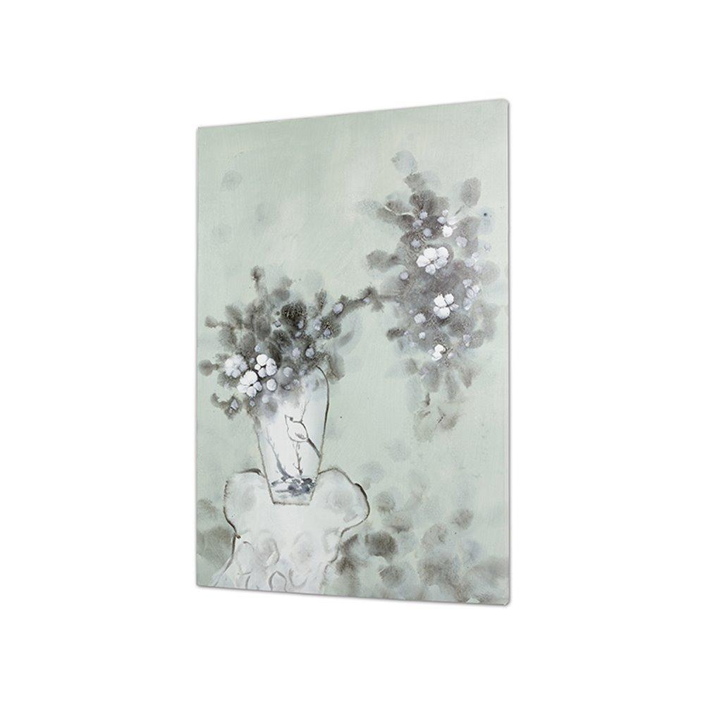 Peinture Tableau vase fleurs