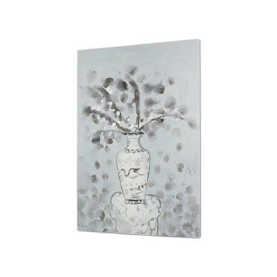 Table vase flowers painting