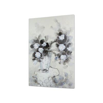 Table vase flowers painting