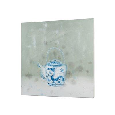 Table de théière bleue