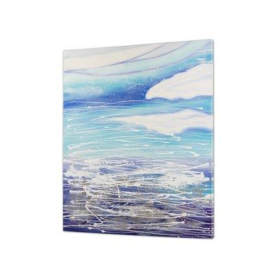 Cuadro abstracto azul