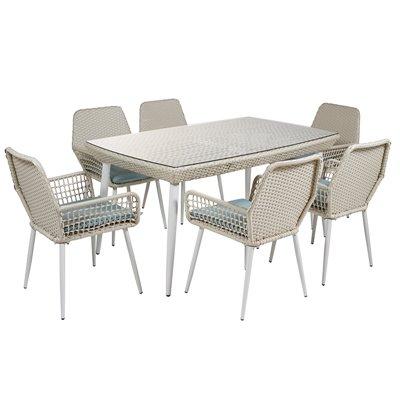 Set de mesa y 6 sillas para terraza y jardín