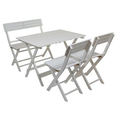 Set 4 pieces terrace and garden white