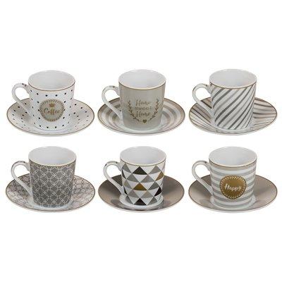 Conjunto de 6 tazas Coffe