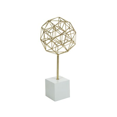 Figure polyhedron old gold
