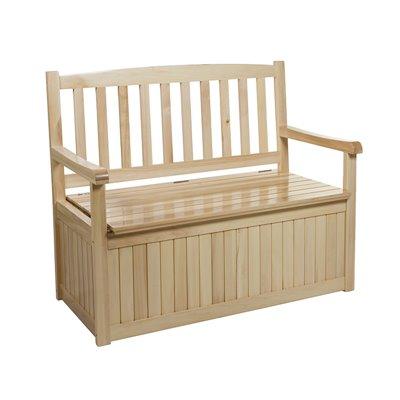 Banco de madeira para terraza e xardín con almacenaxe