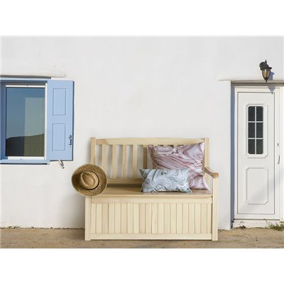 Wooden bench for terrace and garden with storage
