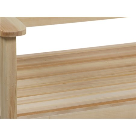Wooden bench for terrace and garden