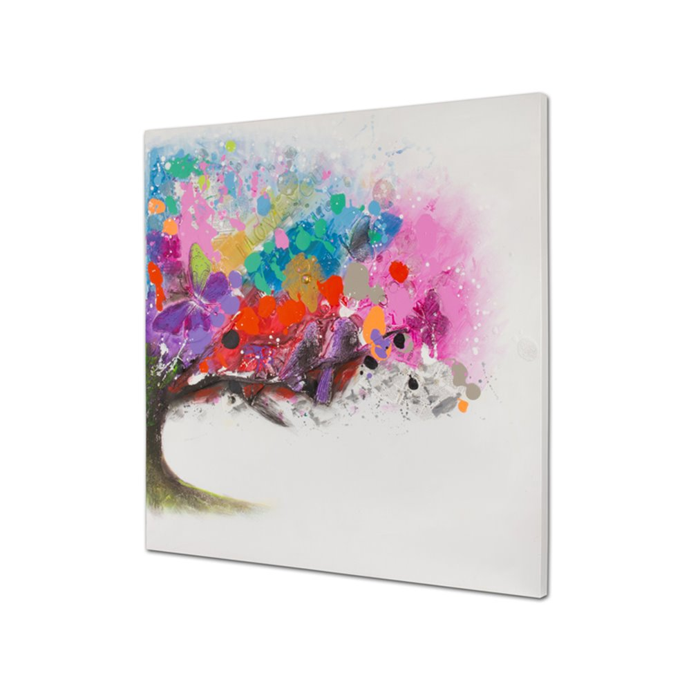 Cuadro óleo árbol colores
