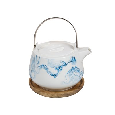 Teapot with handle Aqua