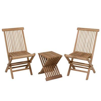 Conjunto de mesa con 2 sillas para terraza y jardín