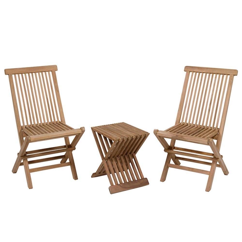 Conjunto de mesa con 2 sillas para terraza y jard n for Conjunto de mesa y sillas para terraza