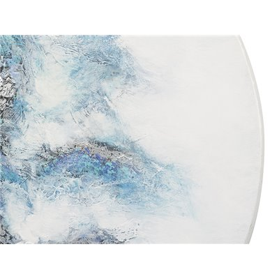 Cuadro abstracto redondo