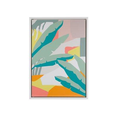 Cadre de feuilles abstraites
