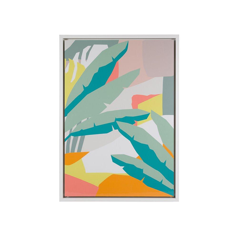 Cuadro hojas abstracto