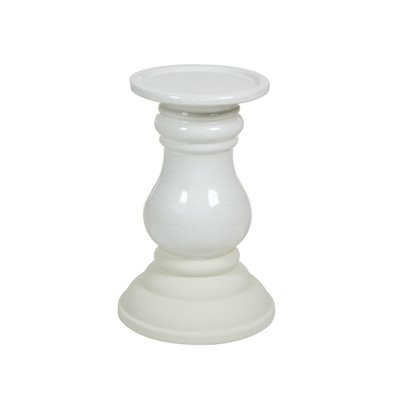Candelabro cerámica beige
