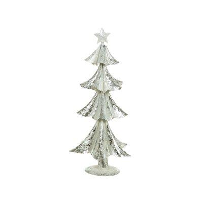 Árbol Navidad plata y blanco