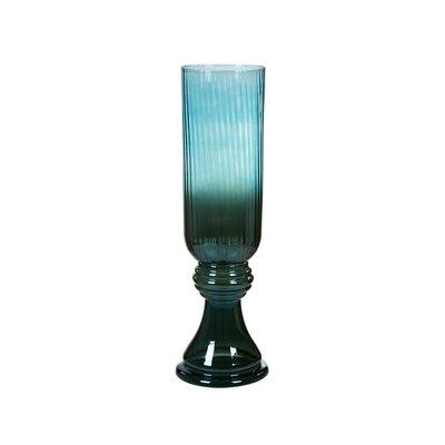 Glass blue vase