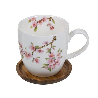Taza con posavasos Sakura