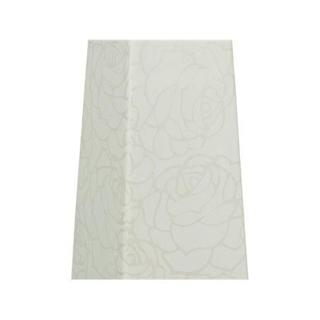 Jarrón rose blanco 11x11x45 cm