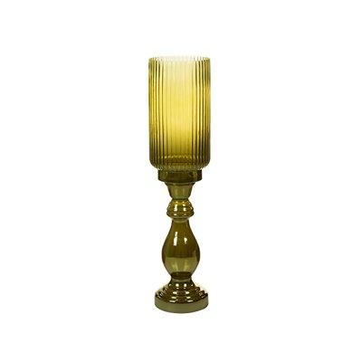 Glass green vase