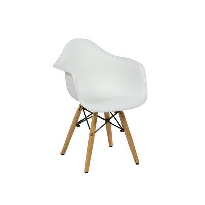Weiß ABS kinder stuhl und buchenholz