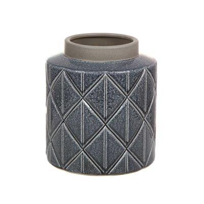 Jarrón de cerámica gris oscuro