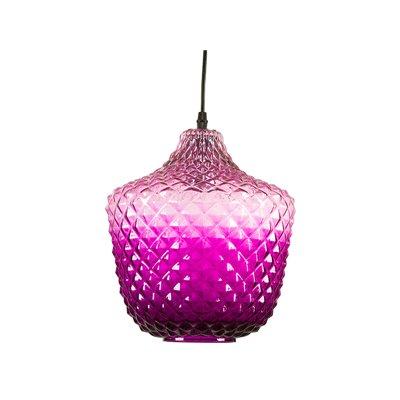 Lámpara techo púrpura