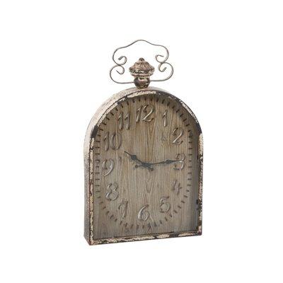 Reloj de pared marrón y blanco