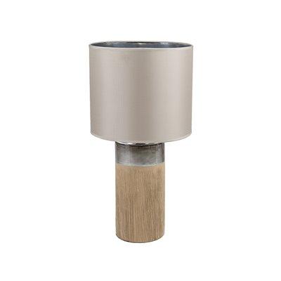 Lámpara marrón cerámica
