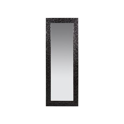 Black stucco mirror
