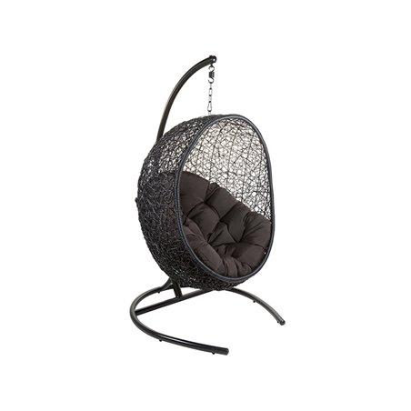 Chaise de panier suspendu noir