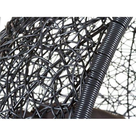 Black hanging basket chair