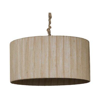 Dark jute cylinder ceiling lamp