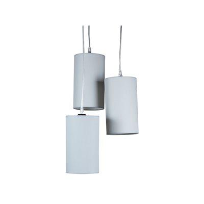 Llum de sostre amb 3 pantalles grisa