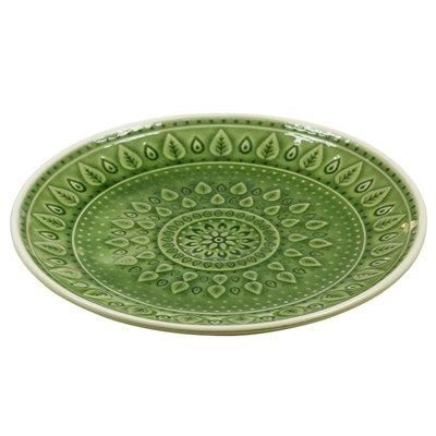Prato de sobremesa natural verde
