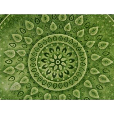 Plato de postre natural verde