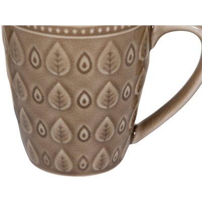 Taza natural marrón
