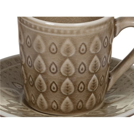 Tea cup with brown Natural dish