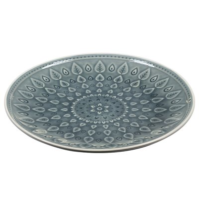 Blue natural plain plate